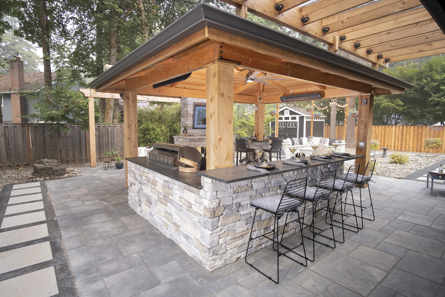 covered Outdoor Structure, Breezeway, and Pergola