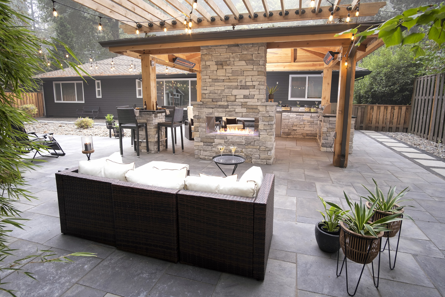 Pergola Covered Outdoor Living Space