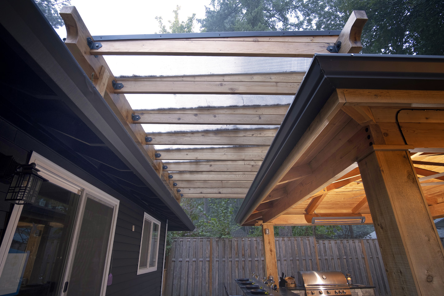 Breezeway with Polycarbonate Cover