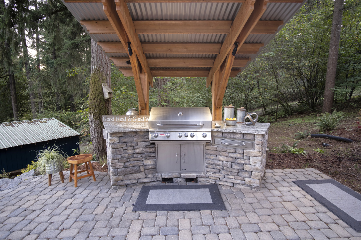Covered Grill Island