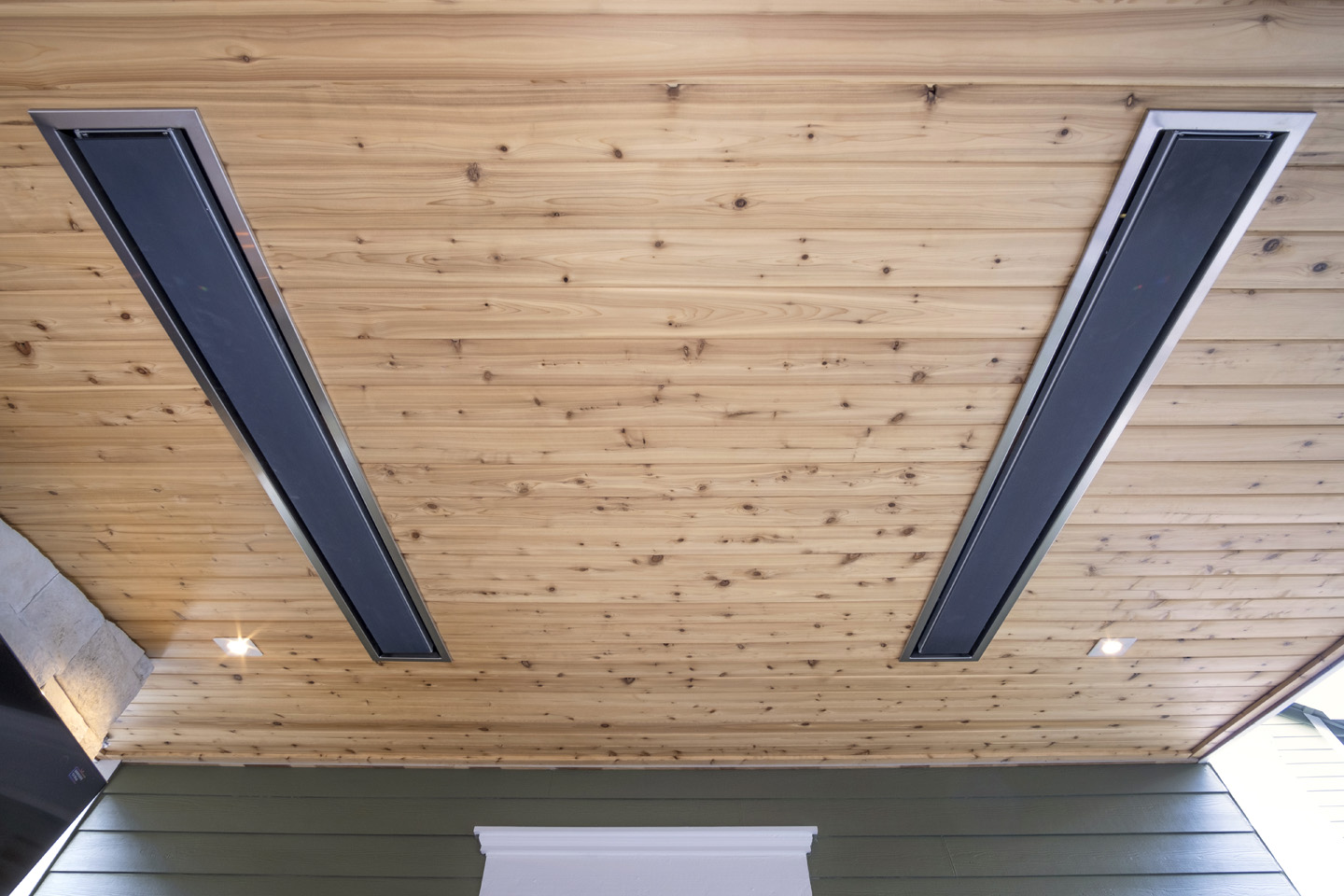 ceiling heeaters in Outdoor Living Room