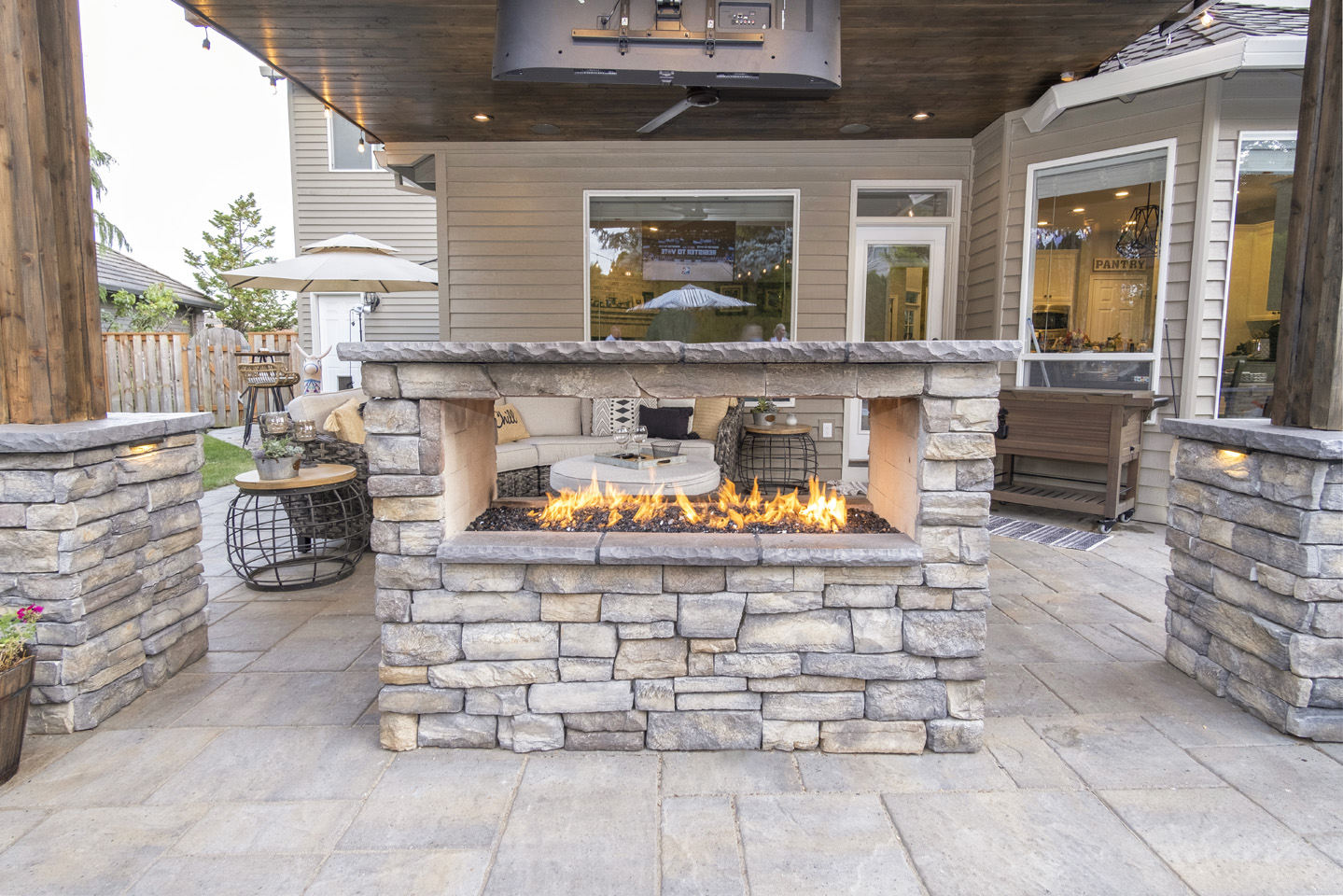 Custom Double-sided Firepit