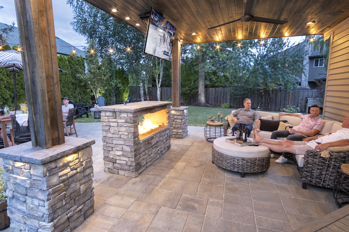 Outdoor Living with Drop Down TV